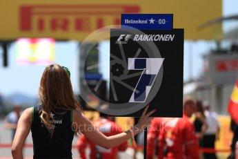 World © Octane Photographic Ltd. Formula 1 - Spanish Grand Prix Grid. Kimi Raikkonen - Scuderia Ferrari SF70H. Circuit de Barcelona - Catalunya, Spain. Sunday 14th May 2017. Digital Ref:1824LB1D3676