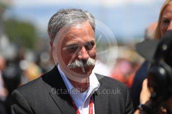 World © Octane Photographic Ltd. Formula 1 - Spanish Grand Prix Grid. Chase Carey - Liberty Media. Circuit de Barcelona - Catalunya, Spain. Sunday 14th May 2017. Digital Ref:1824LB1D3766