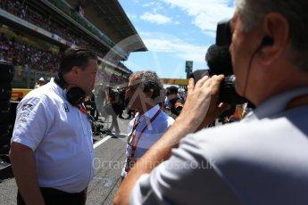 World © Octane Photographic Ltd. Formula 1 - Spanish Grand Prix Grid. Alain Prost and McLaren Honda. Circuit de Barcelona - Catalunya, Spain. Sunday 14th May 2017. Digital Ref:1824LB2D8757