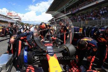 World © Octane Photographic Ltd. Formula 1 - Spanish Grand Prix Grid. Max Verstappen - Red Bull Racing RB13. Circuit de Barcelona - Catalunya, Spain. Sunday 14th May 2017. Digital Ref:1824LB2D8789