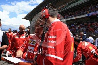 World © Octane Photographic Ltd. Formula 1 - Spanish Grand Prix Grid. Sebastian Vettel - Scuderia Ferrari SF70H. Circuit de Barcelona - Catalunya, Spain. Sunday 14th May 2017. Digital Ref:1824LB2D8824