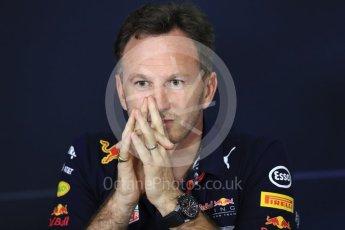 World © Octane Photographic Ltd. Formula 1 - Spanish Grand Prix – FIA Team Press Conference – Part 2. Christian Horner - Team Principal of Red Bull Racing. Circuit de Barcelona - Catalunya. Thursday 11th May 2017. Digital Ref: 1815LB1D0154