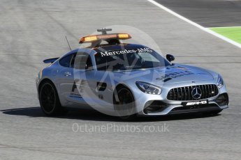 World © Octane Photographic Ltd. Formula 1 - Spanish Grand Prix Practice 1. Track inspection in Mercedes AMG cars. Circuit de Barcelona - Catalunya, Spain. Friday 12th May 2017. Digital Ref: 1810CB1L7621