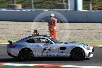 World © Octane Photographic Ltd. Formula 1 - Spanish Grand Prix Practice 1. Track inspection in Mercedes AMG cars. Circuit de Barcelona - Catalunya, Spain. Friday 12th May 2017. Digital Ref: 1810CB1L7626