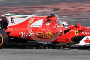 World © Octane Photographic Ltd. Formula 1 - Spanish Grand Prix Practice 1. Sebastian Vettel - Scuderia Ferrari SF70H. Circuit de Barcelona - Catalunya, Spain. Friday 12th May 2017. Digital Ref: 1810CB1L7648