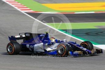 World © Octane Photographic Ltd. Formula 1 - Spanish Grand Prix Practice 1. Pascal Wehrlein – Sauber F1 Team C36. Circuit de Barcelona - Catalunya, Spain. Friday 12th May 2017. Digital Ref: 1810CB1L7854