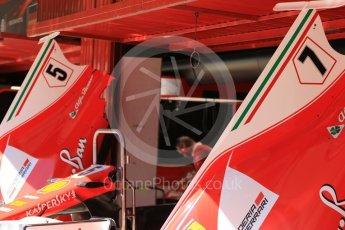 World © Octane Photographic Ltd. Formula 1 - Spanish Grand Prix Practice 1. Sebastian Vettel and Kimi Raikkonen - Scuderia Ferrari SF70H. Circuit de Barcelona - Catalunya, Spain. Friday 12th May 2017. Digital Ref: 1810CB7D4318