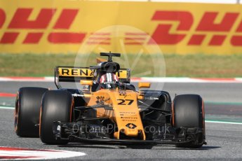 World © Octane Photographic Ltd. Formula 1 - Spanish Grand Prix - Practice 1. Nico Hulkenberg - Renault Sport F1 Team R.S.17. Circuit de Barcelona - Catalunya. Friday 12th May 2017. Digital Ref: