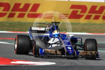 World © Octane Photographic Ltd. Formula 1 - Spanish Grand Prix - Practice 1. Marcus Ericsson – Sauber F1 Team C36. Circuit de Barcelona - Catalunya. Friday 12th May 2017. Digital Ref: 1810LB1D9060