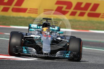 World © Octane Photographic Ltd. Formula 1 - Spanish Grand Prix Practice 1. Lewis Hamilton - Mercedes AMG Petronas F1 W08 EQ Energy+. Circuit de Barcelona - Catalunya, Spain. Friday 12th May 2017. Digital Ref: 1810LB1D9178