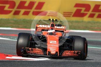 World © Octane Photographic Ltd. Formula 1 - Spanish Grand Prix Practice 1. Stoffel Vandoorne - McLaren Honda MCL32. Circuit de Barcelona - Catalunya, Spain. Friday 12th May 2017. Digital Ref: 1810LB1D9215