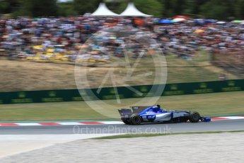 World © Octane Photographic Ltd. Formula 1 - Spanish Grand Prix Race. Pascal Wehrlein – Sauber F1 Team C36. Circuit de Barcelona - Catalunya, Spain. Sunday 14th May 2017. Digital Ref:1825LB1D4314