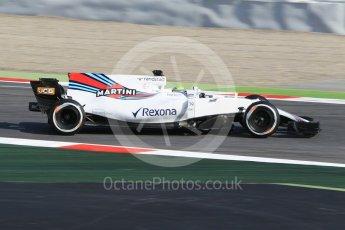 World © Octane Photographic Ltd. Formula 1 winter test 1, Williams martini Racing FW40 – Felipe Massa. Circuit de Barcelona-Catalunya. Monday 27th February 2017. Digital Ref :1780CB1D2638