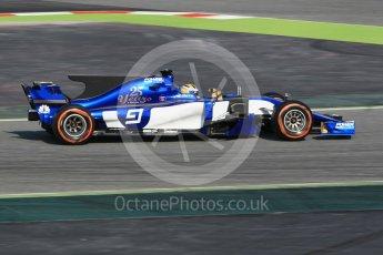 World © Octane Photographic Ltd.. Formula 1 winter test 1, Sauber F1 Team C36 – Marcus Ericsson ,Circuit de Barcelona-Catalunya. Monday 27th February 2017. Digital Ref :1780CB1D2656