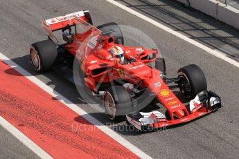 World © Octane Photographic Ltd. Formula 1 - Winter Test 1. Sebastian Vettel - Scuderia Ferrari SF70H. Circuit de Barcelona-Catalunya. Monday 27th February 2017. Digital Ref :1780CB1D2822