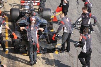 World © Octane Photographic Ltd. Formula 1 - Winter Test 1. Kevin Magnussen - Haas F1 Team VF-17. Circuit de Barcelona-Catalunya. Monday 27th February 2017. Digital Ref :1780CB1D2865