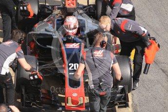 World © Octane Photographic Ltd. Formula 1 - Winter Test 1. Kevin Magnussen - Haas F1 Team VF-17. Circuit de Barcelona-Catalunya. Monday 27th February 2017. Digital Ref :1780CB1D2879