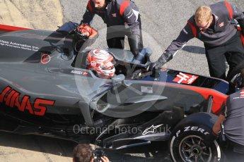 World © Octane Photographic Ltd. Formula 1 - Winter Test 1. Kevin Magnussen - Haas F1 Team VF-17. Circuit de Barcelona-Catalunya. Monday 27th February 2017. Digital Ref :1780CB1D2893