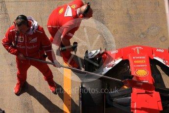 World © Octane Photographic Ltd. Formula 1 - Winter Test 1. Sebastian Vettel - Scuderia Ferrari SF70H. Circuit de Barcelona-Catalunya. Monday 27th February 2017. Digital Ref :1780CB1D2910