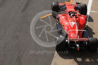 World © Octane Photographic Ltd. Formula 1 - Winter Test 1. Sebastian Vettel - Scuderia Ferrari SF70H. Circuit de Barcelona-Catalunya. Monday 27th February 2017. Digital Ref :1780CB1D2928