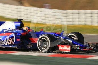 World © Octane Photographic Ltd. Formula 1 - Winter Test 1. Carlos Sainz - Scuderia Toro Rosso STR12. Circuit de Barcelona-Catalunya. Monday 27th February 2017. Digital Ref :1780CB1D3031