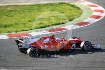World © Octane Photographic Ltd. Formula 1 - Winter Test 1. Sebastian Vettel - Scuderia Ferrari SF70H. Circuit de Barcelona-Catalunya. Monday 27th February 2017. Digital Ref :1780CB1D3107