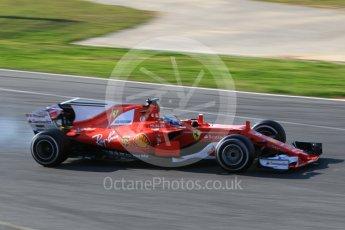 World © Octane Photographic Ltd. Formula 1 - Winter Test 1. Sebastian Vettel - Scuderia Ferrari SF70H. Circuit de Barcelona-Catalunya. Monday 27th February 2017. Digital Ref :1780CB1D3218