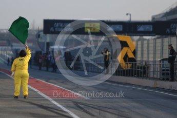 World © Octane Photographic Ltd. Formula 1 winter test 1, Green flag at the Circuit de Barcelona-Catalunya. Monday 27th February 2017. Digital Ref :1780CB1D5996