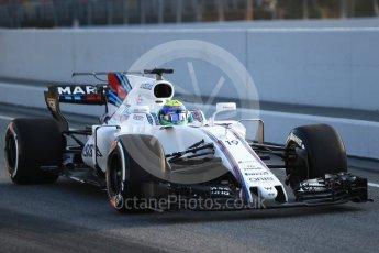 World © Octane Photographic Ltd. Formula 1 winter test 1, Williams martini Racing FW40 – Felipe Massa. Circuit de Barcelona-Catalunya. Monday 27th February 2017. Digital Ref :1780CB1D6075