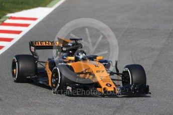 World © Octane Photographic Ltd. Formula 1 winter test 1, Renault Sport F1 Team R.S.17 – Nico Hulkenberg, Circuit de Barcelona-Catalunya. Monday 27th February 2017. Digital Ref :1780CB1D6220