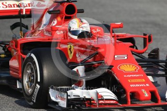 World © Octane Photographic Ltd. Formula 1 winter test 1, Scuderia Ferrari SF70H – Sebastian Vettel. Circuit de Barcelona-Catalunya. Monday 27th February 2017. Digital Ref :1780CB1D6382