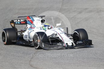 World © Octane Photographic Ltd. Formula 1 winter test 1, Williams martini Racing FW40 – Felipe Massa. Circuit de Barcelona-Catalunya. Monday 27th February 2017. Digital Ref :1780CB1D6555