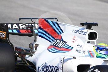World © Octane Photographic Ltd. Formula 1 winter test 1, Williams martini Racing FW40 – Felipe Massa. Circuit de Barcelona-Catalunya. Monday 27th February 2017. Digital Ref :1780CB1D6606