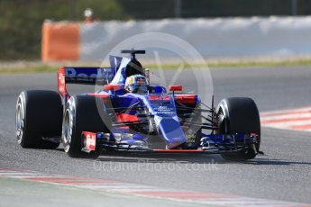 World © Octane Photographic Ltd. Formula 1 - Winter Test 1. Carlos Sainz - Scuderia Toro Rosso STR12. Circuit de Barcelona-Catalunya. Monday 27th February 2017. Digital Ref :1780CB1D6733