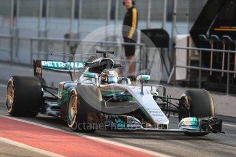 World © Octane Photographic Ltd. Formula 1 - Winter Test 1. Valtteri Bottas - Mercedes AMG Petronas F1 W08 EQ Energy+. Circuit de Barcelona-Catalunya. Monday 27th February 2017. Digital Ref : 1780LB1D8240