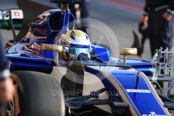 World © Octane Photographic Ltd. Formula 1 - Winter Test 1. Marcus Ericsson - Sauber F1 Team C36. Circuit de Barcelona-Catalunya. Monday 27th February 2017. Digital Ref : 1780LB1D8267