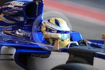 World © Octane Photographic Ltd. Formula 1 - Winter Test 1. Marcus Ericsson - Sauber F1 Team C36. Circuit de Barcelona-Catalunya. Monday 27th February 2017. Digital Ref : 1780LB1D8276