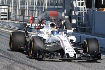 World © Octane Photographic Ltd. Formula 1 - Winter Test 1. Felipe Massa - Williams Martini Racing FW40. Circuit de Barcelona-Catalunya. Monday 27th February 2017. Digital Ref : 1780LB1D8610