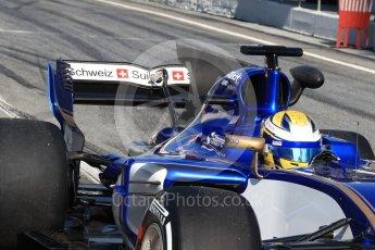 World © Octane Photographic Ltd. Formula 1 - Winter Test 1. Marcus Ericsson - Sauber F1 Team C36. Circuit de Barcelona-Catalunya. Monday 27th February 2017. Digital Ref : 1780LB1D8628