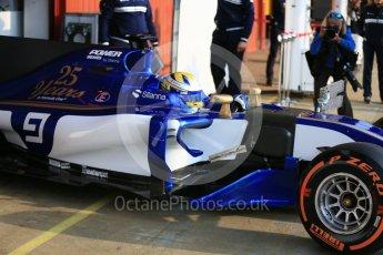 World © Octane Photographic Ltd. Formula 1 - Winter Test 1. Marcus Ericsson - Sauber F1 Team C36. Circuit de Barcelona-Catalunya. Monday 27th February 2017. Digital Ref : 1780LB5D7551
