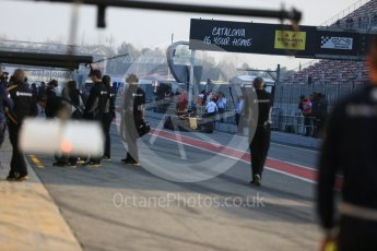World © Octane Photographic Ltd. Formula 1 - Winter Test 1. Nico Hulkenberg - Renault Sport F1 Team R.S.17. Circuit de Barcelona-Catalunya. Monday 27th February 2017. Digital Ref : 1780LB5D7561