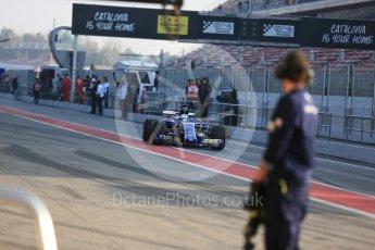 World © Octane Photographic Ltd. Formula 1 - Winter Test 1. Marcus Ericsson - Sauber F1 Team C36. Circuit de Barcelona-Catalunya. Monday 27th February 2017. Digital Ref : 1780LB5D7567