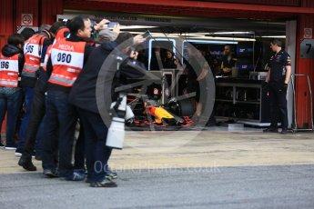 World © Octane Photographic Ltd. Formula 1 - Winter Test 1. Daniel Ricciardo - Red Bull Racing RB13. Circuit de Barcelona-Catalunya. Monday 27th February 2017. Digital Ref : 1780LB5D7647