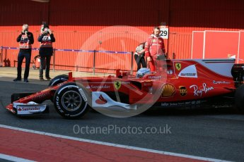 World © Octane Photographic Ltd. Formula 1 - Winter Test 1. Sebastian Vettel - Scuderia Ferrari SF70H. Circuit de Barcelona-Catalunya. Monday 27th February 2017. Digital Ref : 1780LB5D7694