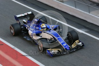 World © Octane Photographic Ltd. Formula 1 - Winter Test 1. Marcus Ericsson - Sauber F1 Team C36. Circuit de Barcelona-Catalunya. Monday 27th February 2017. Digital Ref : 1780LB5D7718