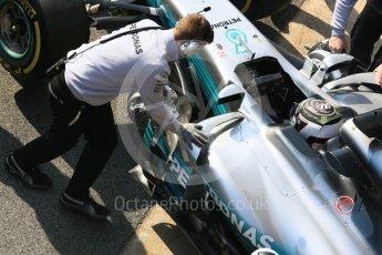 World © Octane Photographic Ltd. Formula 1 - Winter Test 1. Valtteri Bottas - Mercedes AMG Petronas F1 W08 EQ Energy+. Circuit de Barcelona-Catalunya. Monday 27th February 2017. Digital Ref : 1780LB5D7788
