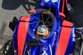 World © Octane Photographic Ltd. Formula 1 - Winter Test 1. Carlos Sainz - Scuderia Toro Rosso STR12. Circuit de Barcelona-Catalunya. Monday 27th February 2017. Digital Ref : 1780LB5D7830
