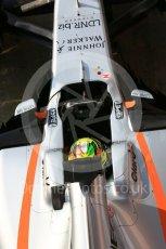 World © Octane Photographic Ltd. Formula 1 - Winter Test 1. Sergio Perez - Sahara Force India VJM10. Circuit de Barcelona-Catalunya. Monday 27th February 2017. Digital Ref : 1780LB5D7849