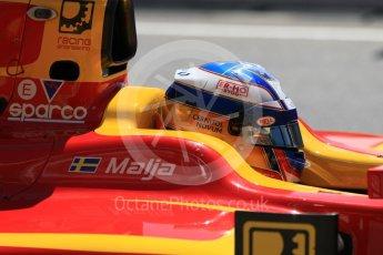 World © Octane Photographic Ltd. FIA Formula 2 (F2) - Practice. Gustav Malja – Racing Engineering. Circuit de Barcelona - Catalunya, Spain. Friday 12th May 2017. Digital Ref: 1811CB7D4409