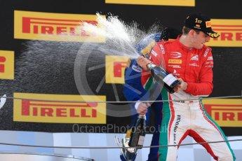 World © Octane Photographic Ltd. FIA Formula 2 (F2) - Race 1. Charles Leclerc – Prema Racing (1st) and Oliver Rowland – DAMS (3rd). Circuit de Barcelona - Catalunya, Spain. Friday 12th May 2017. Digital Ref:1819LB1D2466